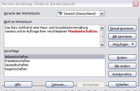 "Korrekturhilfe ""Mandantschaft"""