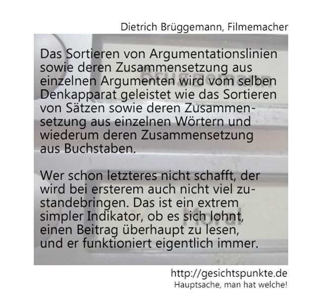 Dietrich Brüggemann - Das Sortieren von Argumenten!